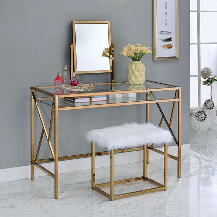 261 best home decor images on pinterest bedrooms bench for Furniture of america ailees contemporary glam 2 piece vanity table set with faux fur stool