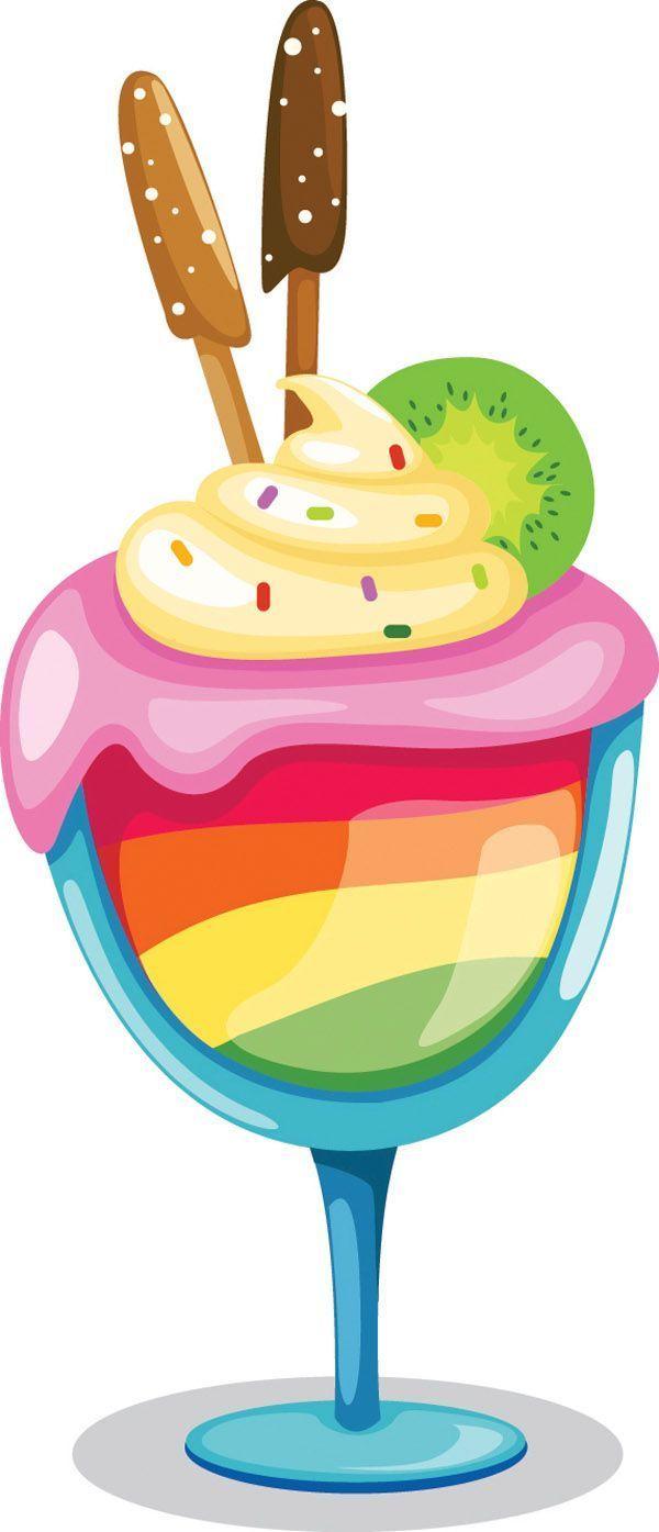 Kostenlose Vektor Eis Farbige Vektorgrafik Zur Verfugung Kaffee Und Kuchen Vektorgrafik Grafik