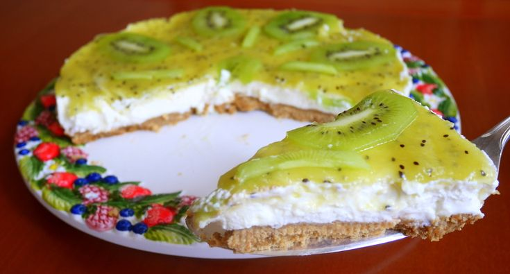 Cheesecake al kiwi