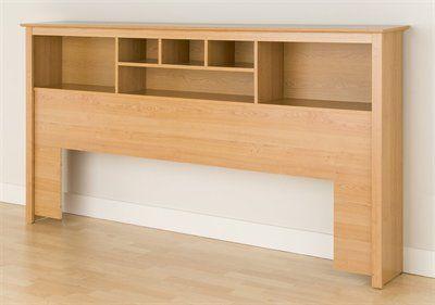 Prepac Furniture Platform Storage King Bookcase Headboard