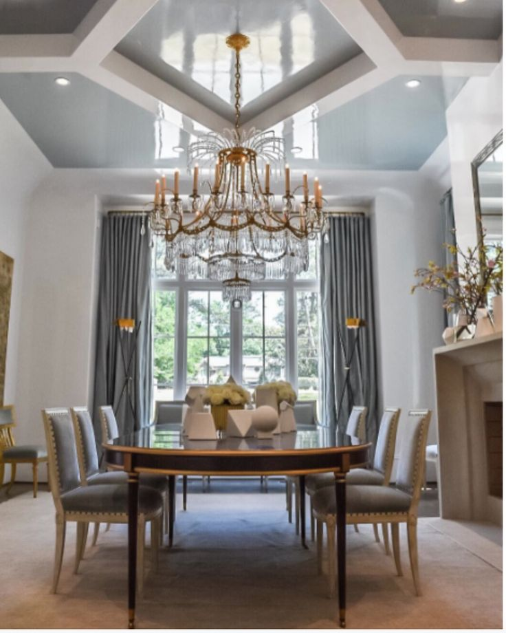 Stunning Dining Room Design. Love All The Details!