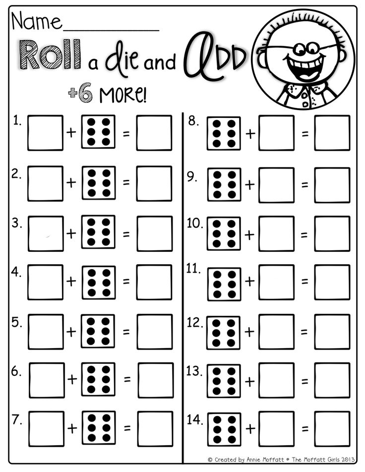 Roll and Add 6 more! Fun and interactive way to practice