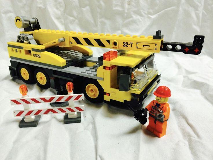 Lego City Town Square Crane + Figure Mint 60097/8404/60026/7641
