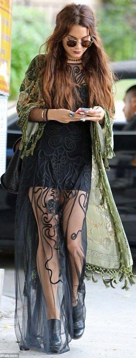 Vanessa Hudgens Hippie Chic Coachella Outfit Idea