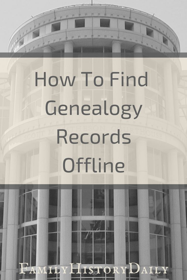 Genealogy records can be found in libraries, courthouses, archives, churches, through local clubs, hospitals, schools, organizations and more. Learn how to find free genealogy records offline. #freegenealogy