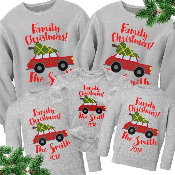 Family Christmas Sweaters Matching Christmas Sweatshirts Etsy Family Christmas Shirts Family Christmas Sweaters Christmas T Shirt Design