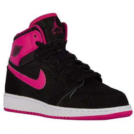 $64.99 #hustler #bball #gameon followhighlights for daily highlights  michael jordan high school basketball,Jordan AJ 1 High - Girls Grade School - Basketball - Shoes - Black/Vivid Pink-sku:321480 http://jordanshoescheap4sale.com/592-michael-jordan-high-school-basketball-Jordan-AJ-1-High-Girls-Grade-School-Basketball-Shoes-Black-Vivid-Pink-sku-32148008.html