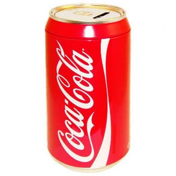 Coca-Cola Can Coin Bank – 8″