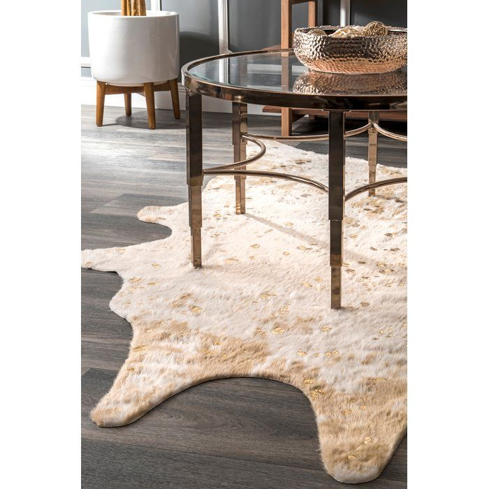 Kirksey White Brown Faux Cowhide Area Rug Faux Cowhide Rug Faux Cowhide Area Rug Faux Cowhide