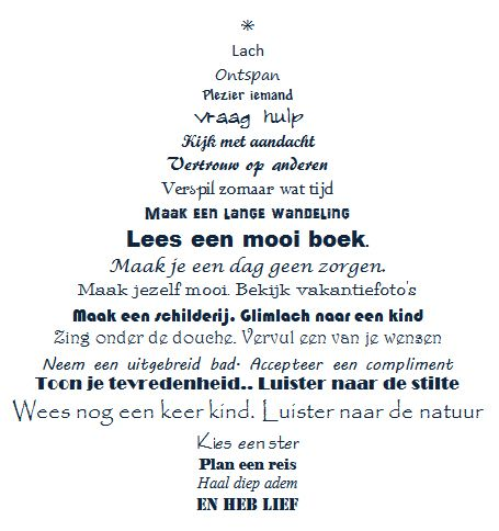 wat gaan we doen in de kerstvakantie? Kerstboom geeft mij voldoende inspiratie! Fijne vakantie allemaal.  www.workingservice.nl
