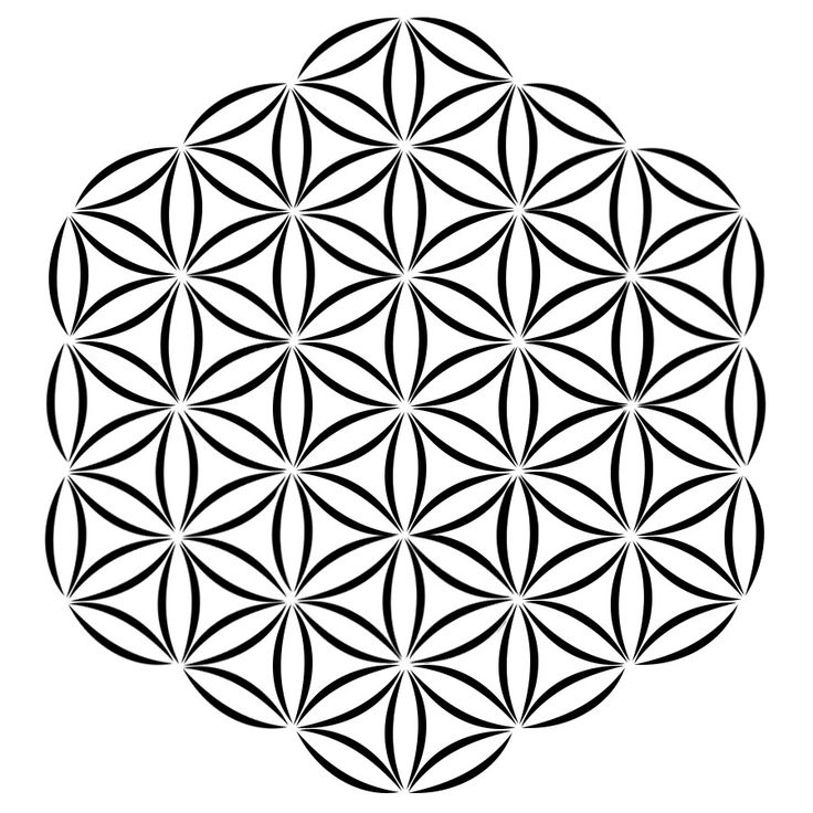 Geometric Flower Stencils : O f quot flower of life sacred geometry circles
