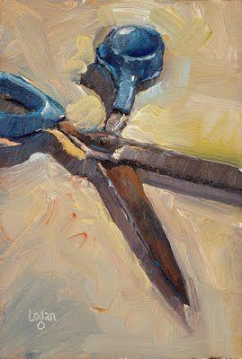 "Daily Paintworks - ""Rusty Blue"" - Original Fine Art for Sale - © Raymond Logan"