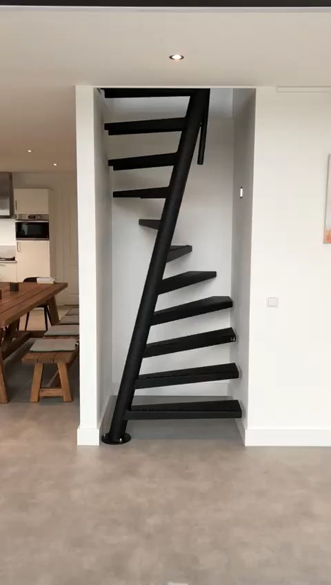 1m2 video I 1m2 stairs by EeStairs I black staircase I Saving space, any RAL colour staircase design#1m2 #black #colour #design #eestairs #ral #saving #space #staircase #stairs #video