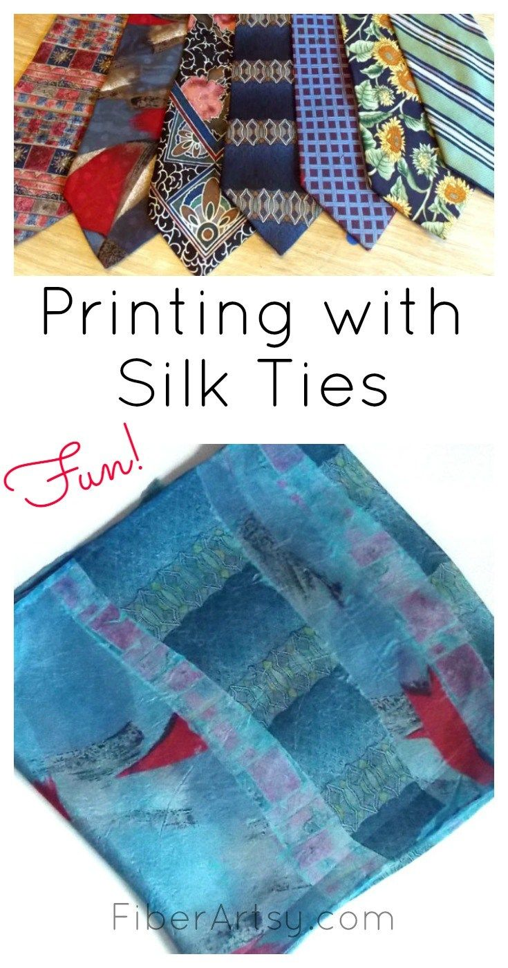 Printing With Silk Ties Diy Fabric Crafts Silk Ties Fabric Crafts