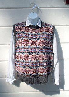Ravelry: friskett's Sleeveless Vest, Scandinavian pattern
