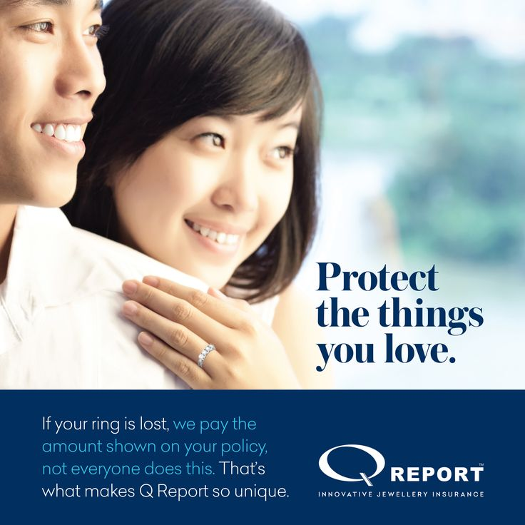 If your ring is lost, we pay the amount shown on your policy. That's what makes Q Report so unique. http://blog.qreport.com.au/protect-the-things-you-love/