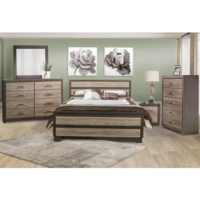 This 6 Pc Twin Bedroom Set Is A Sophisticated Two Tone Modern Chunky Group  With A Modern Subway Tile Inspired Pattern On Both The Bed Frame And The  Case ...