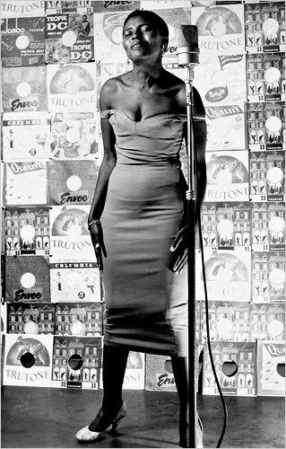 Miriam Makeba (1932–2008), singer and anti-apartheid activist, playing herself in Come Back Africa
