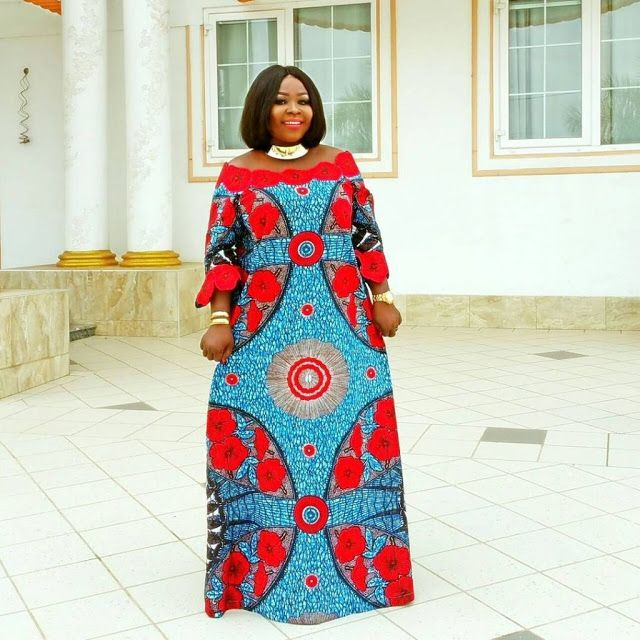 Red Combination Ankara And Lace Styles Simple Ankara
