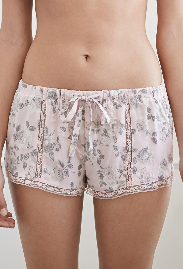 Lacy Rose PJ Shorts | Forever 21 - 2049257198 Lingerie, Sleepwear & Loungewear - http://amzn.to/2ij6tqw