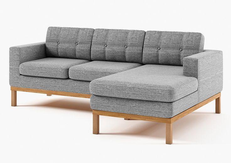 SLF24 BOLTON NAROŻNIK PRAWY-portland 90 szary sofy, meble tapicerowane, kanapy, fotele, łóżka