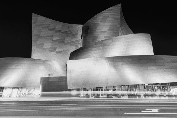 Disney Music Hall Downtown Los Angeles Photography Print Night Etsy Downtown Los Angeles Photography Los Angeles Photography Photography Print