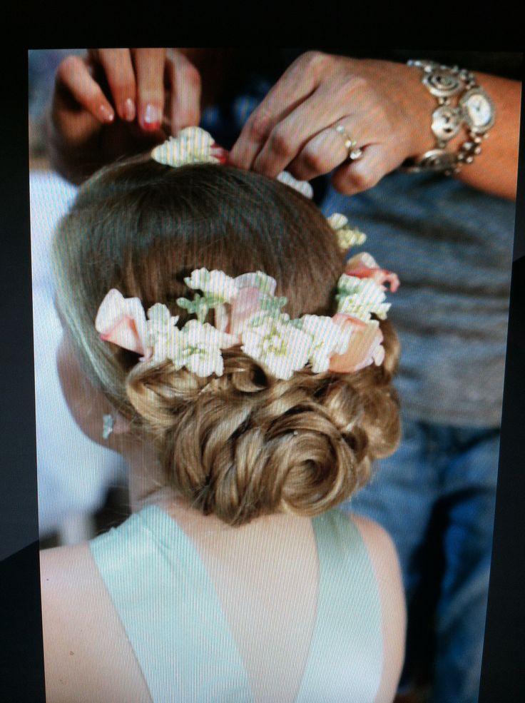 Livi's flower girl hair