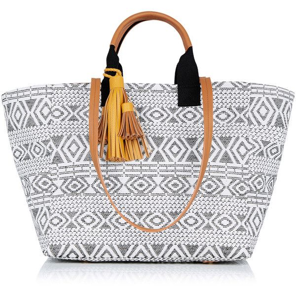 OASIS Summer Aztec Shopper Bag (960 CZK) ❤ liked on Polyvore featuring bags, handbags, tote bags, multi, summer purses, shopping tote, beach tote, evening handbags and aztec tote bag
