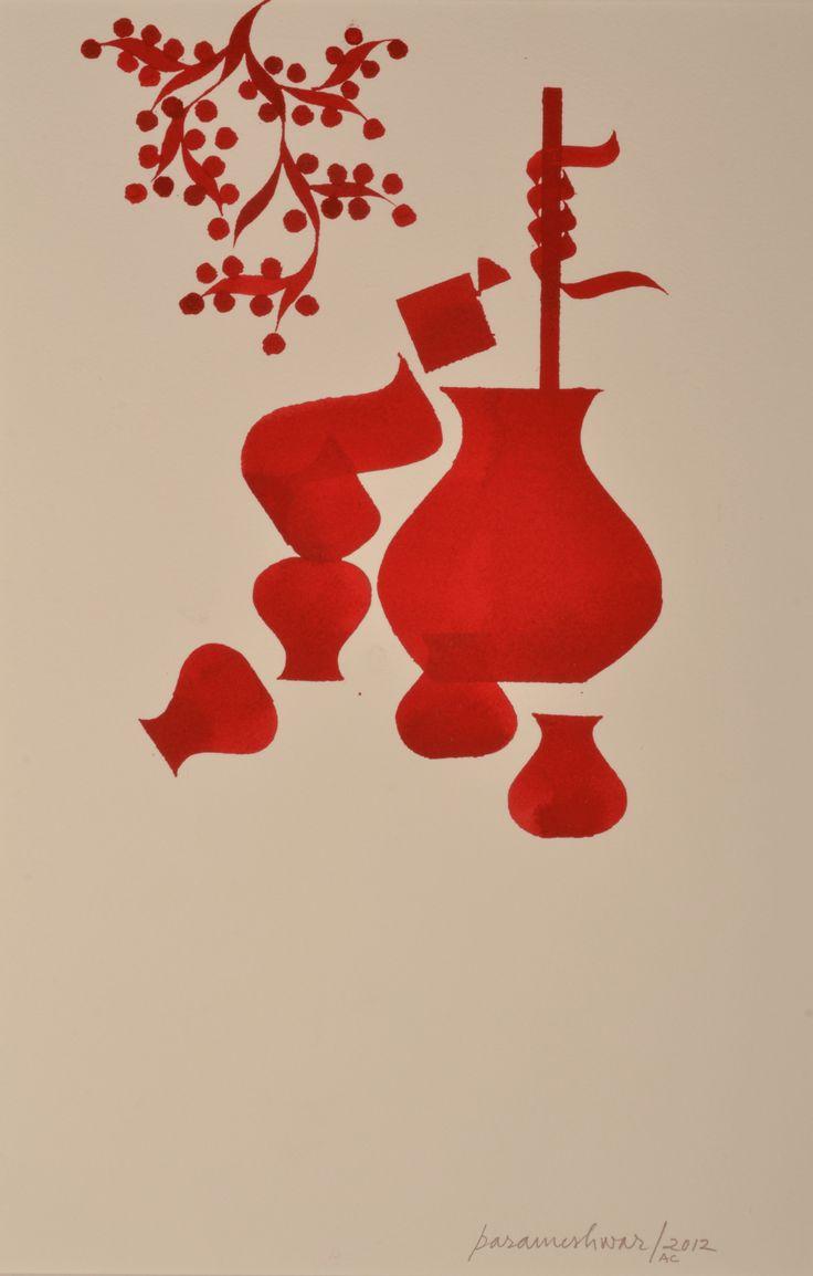 Part of KRISHNA LEELA SERIES by Parameshwar Raju, Calligraphy Artist