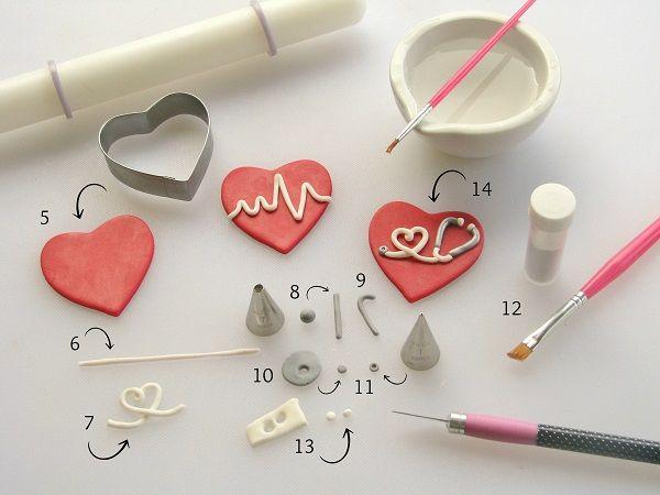 Heartbeat fondant tutorial (via Craftsy).