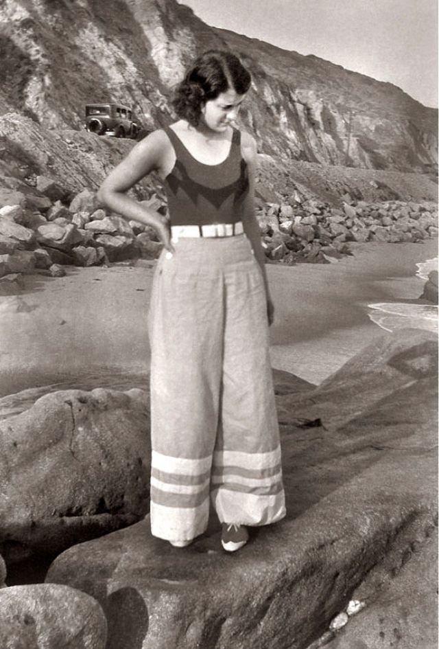 45 coole Bilder von Hosenstilen die Frauen in den 1930er und 1940er Jahren oft t…