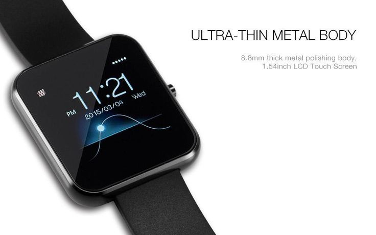 NEW ARRIVAL - Bluetooth Smart Watch with Leather & Silicone Band for IOS Android Smartphone