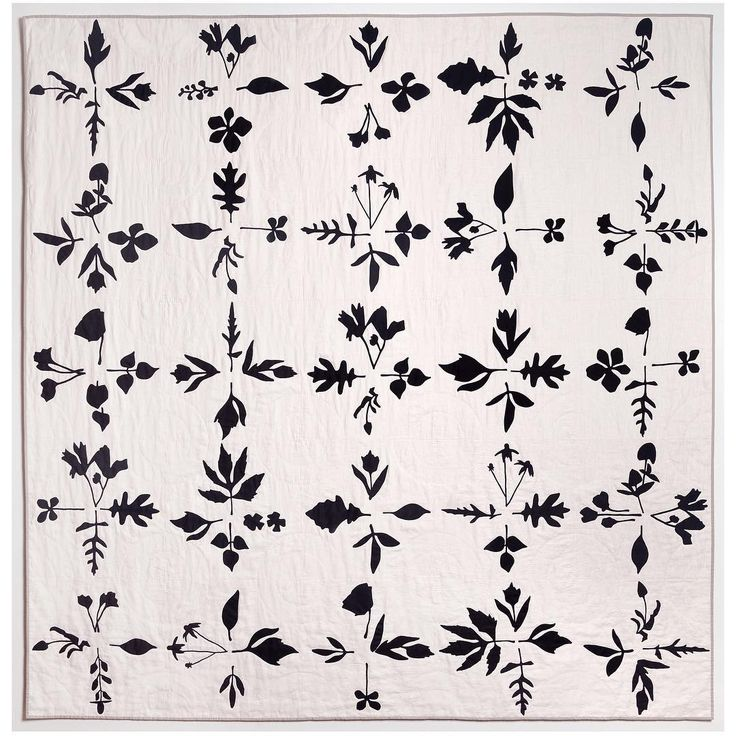 "Black and White Botanical Quilt. 90"" x 90"" linen, cotton. #bandwbotanicalquilt 'Black & White, Twelve Quilts"" runs from May 12th - 15th at 40 Ludlow Street, New York. Opening reception is Friday the 13th from 6 - 9 pm Quilters include myself and... @mariahraegillespie @maranoni @folkfibers @erinwilsonquilts @wiley_pamela @lindsay_stead @s.d.evans @hapticlab @mdotcallahan @thompsonstreetstudio @coultyalo Twelvequilts.com for more info! #blackandwhitetwelvequilts"