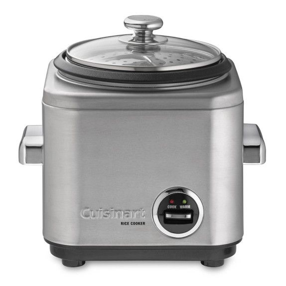 Cuisinart 4-Cup Rice Cooker  I have a tiny rice cooker I use all the time - but it is not impressive or pretty at all - this is; it looks practical