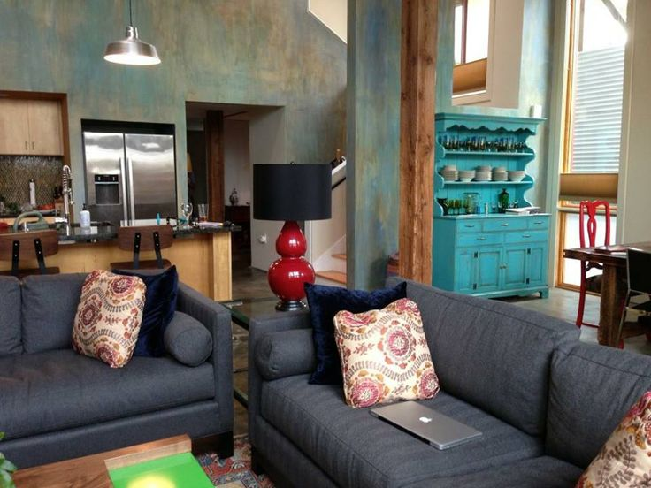 Because There Is So Much Color In The Space, We Opted To Keep The Sofas