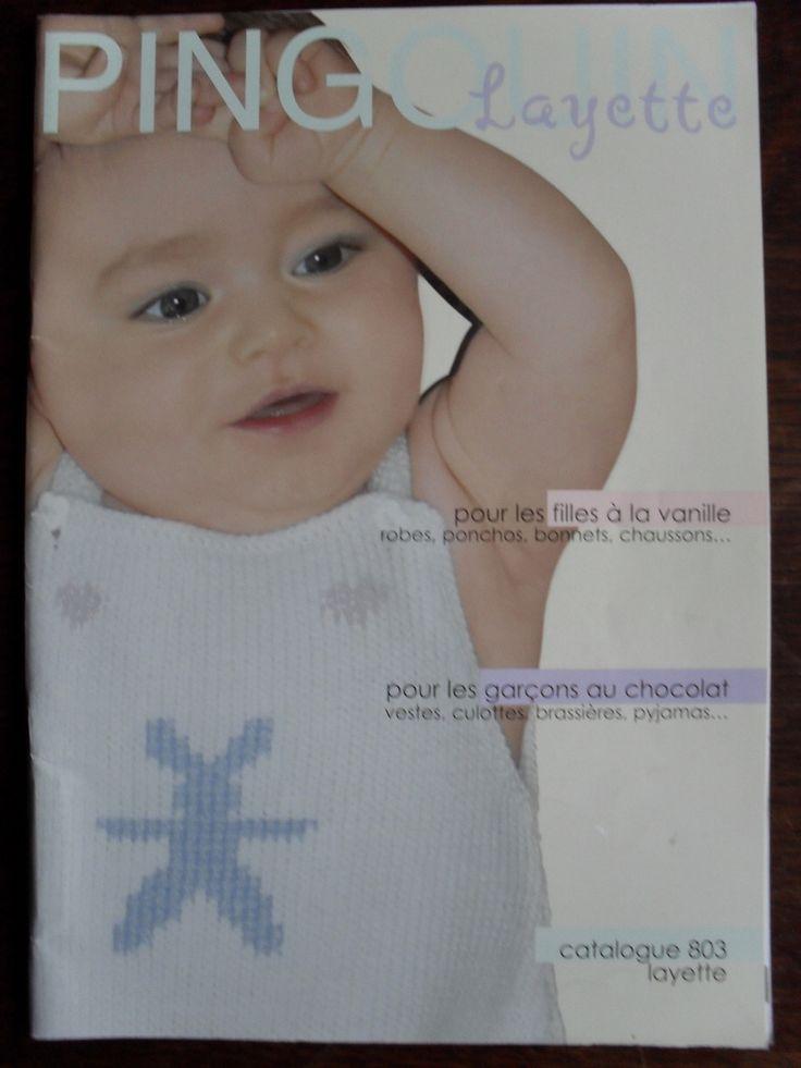 Livre tricot bébé Pingouin Layette : Matériel Tricot par petits-ouvrages-dedame-bergamote