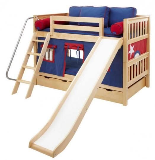 Sleep N Slide Bunk Beds - my new summer project. It's Edward approved!