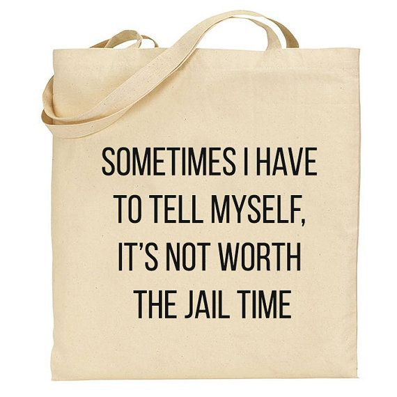 Funny Quote Market tote Bag Canvas Cotton Tote by BlackTypographic