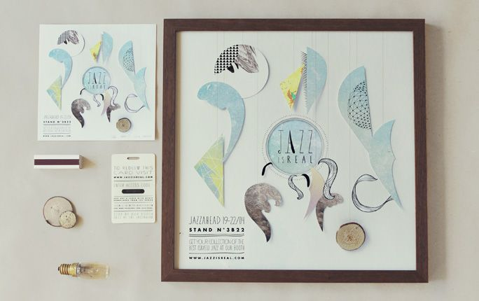 Jazz is real, Event identity by Pauline Schleimer • Art direction • Illustration: Illustration