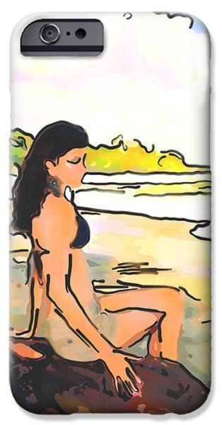 iPhone Cases - Island Girl iPhone Case by Nadia Sanowar