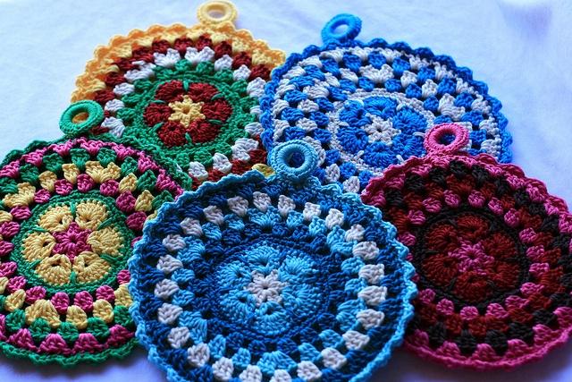 Crochet~ African Flower Mandala / Potholders