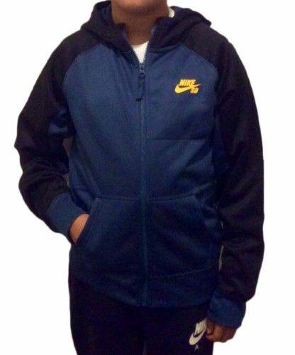Nike SB Youth Boys Everette Graphic Fleece Full Zip Hoodie