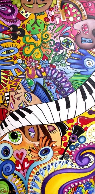 "Saatchi Art Artist Cherie Roe Dirksen; Painting, ""Metamorphic Dilatation — Rock Art Series (The Beatles)"" #art"