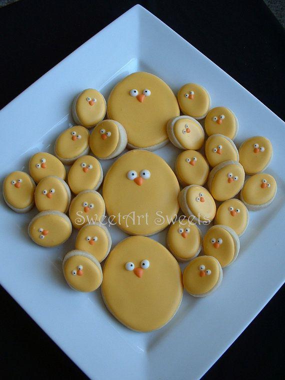 Easter Cookies 15 cookies by SweetArtSweets on Etsy, $19.50
