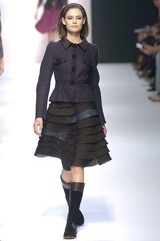 Alberta Ferretti Fall 2005 Ready-to-Wear Fashion Show - Bianca Balti