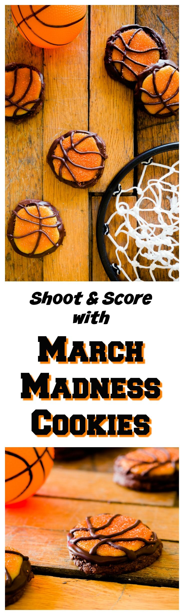Shoot and Score with March Madness Cookies for your March Madness parties!