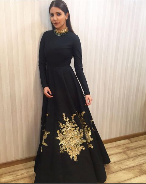 Anushka Sharma In An Embroidered Gown