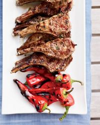 Grilled Lamb Chops with Garlic, Chiles and Anchovies // More Tasty Grilled Lamb: http://fandw.me/m1U #foodandwine