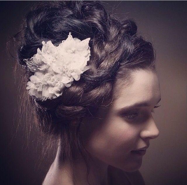 bridal hair By Julie McGuire