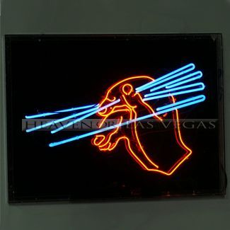 "neon sign-Hand with Chopsticks -animated 48"" x 35"" 